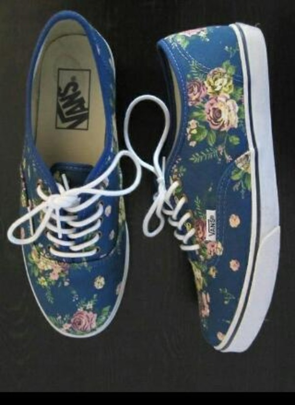 shoes vans floral floral vans
