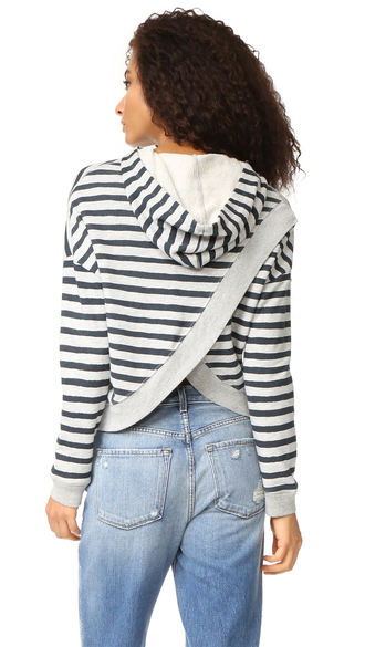 top sundry cross back hoodie fashion clothes french terry