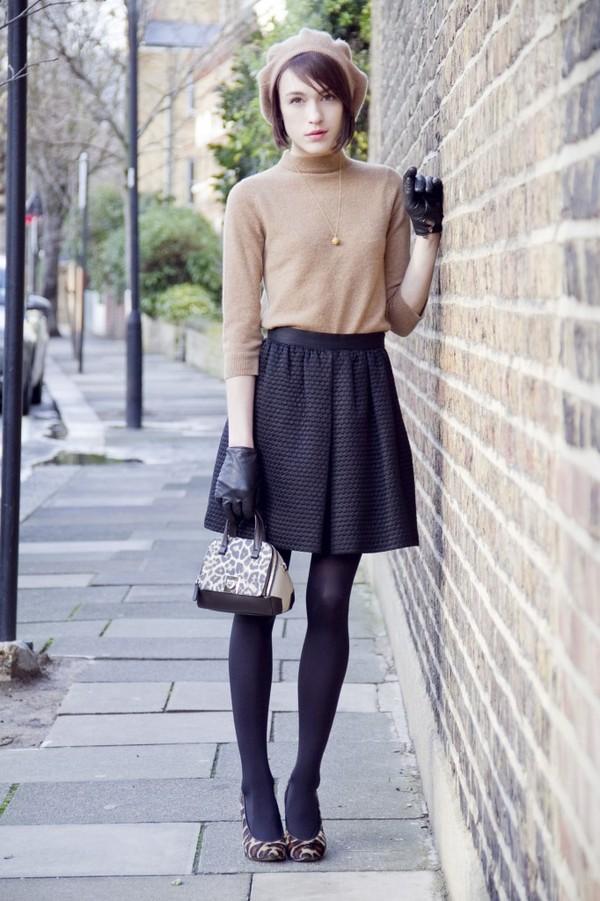 la petite anglaise bag sweater skirt shoes jewels