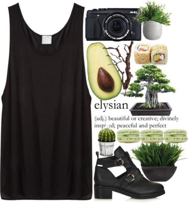 shoes black dress tank top