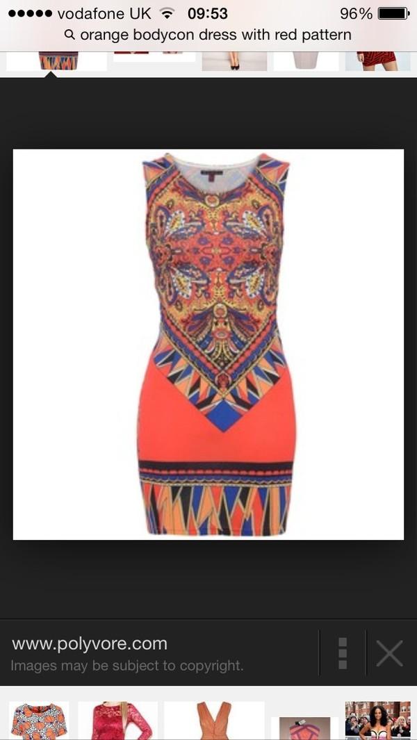 dress orange pattern