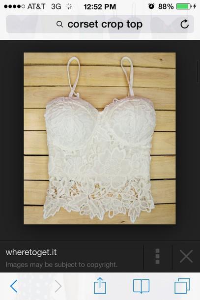 top corset crop top