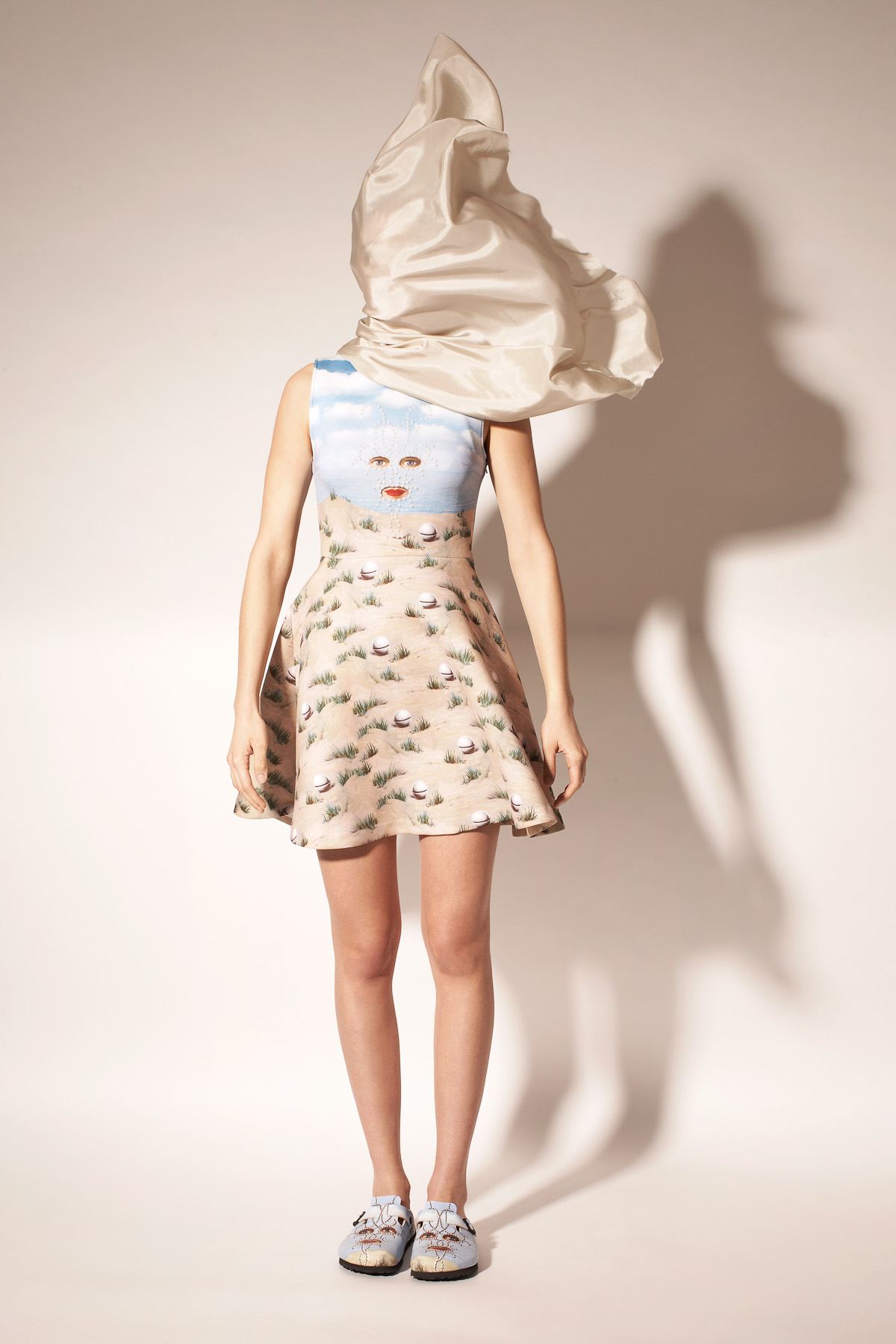 OPENING CEREMONY & MAGRITTE SHEHERAZADE SLEEVELESS FLARE DRESS - WOMEN - OPENING CEREMONY & MAGRITTE