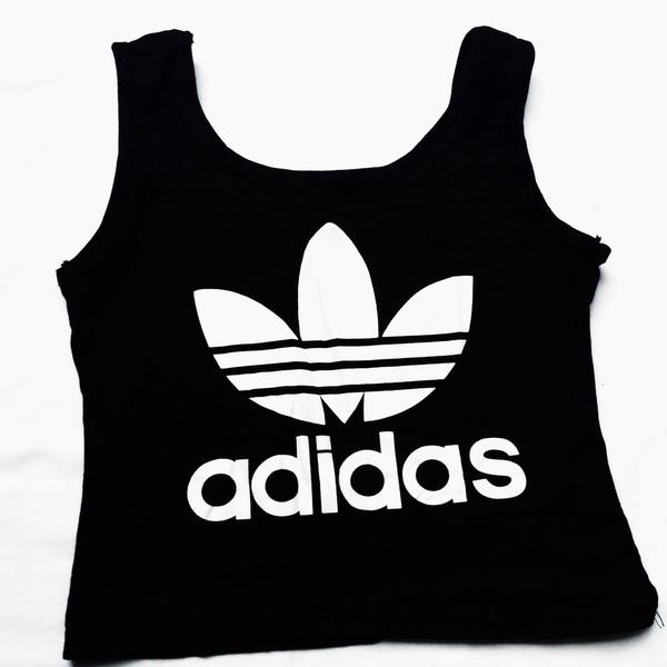 Adidas Crop Top In Black
