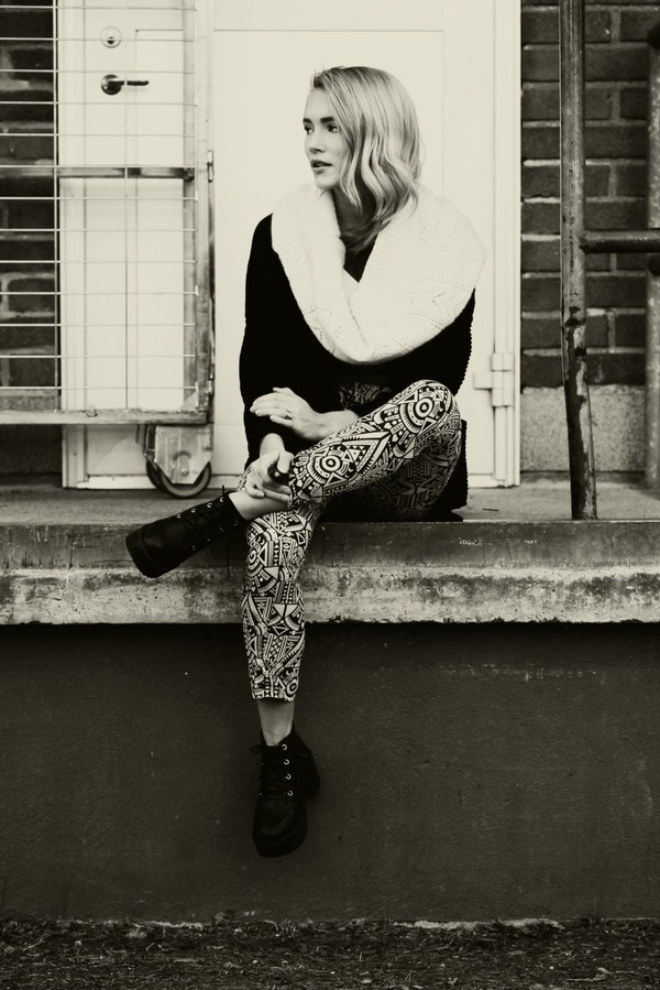 petra karlsson pants sweater shoes