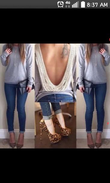 blouse open back giry