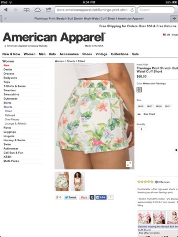 shorts flamingo floral