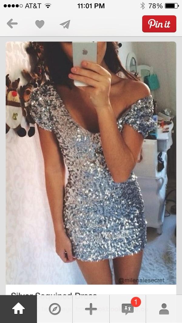 dress sequin dress sequins silver glitter glitter dress glitter hot