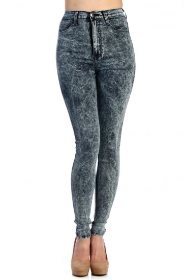 LoveMelrose.com From Harry & Molly | HIGH WAISTED JEANS   NAVY BLUE