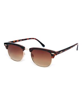 Warehouse | Warehouse Half Metal Tort Sunglasses at ASOS