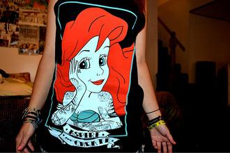 shirt aspire and create the little mermaid punk austin carlile black tattoo piercing disney