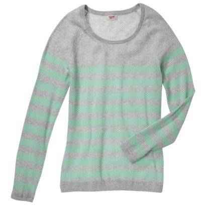 Mossimo Supply Co. Junior's Mesh Striped Sweater... : Target
