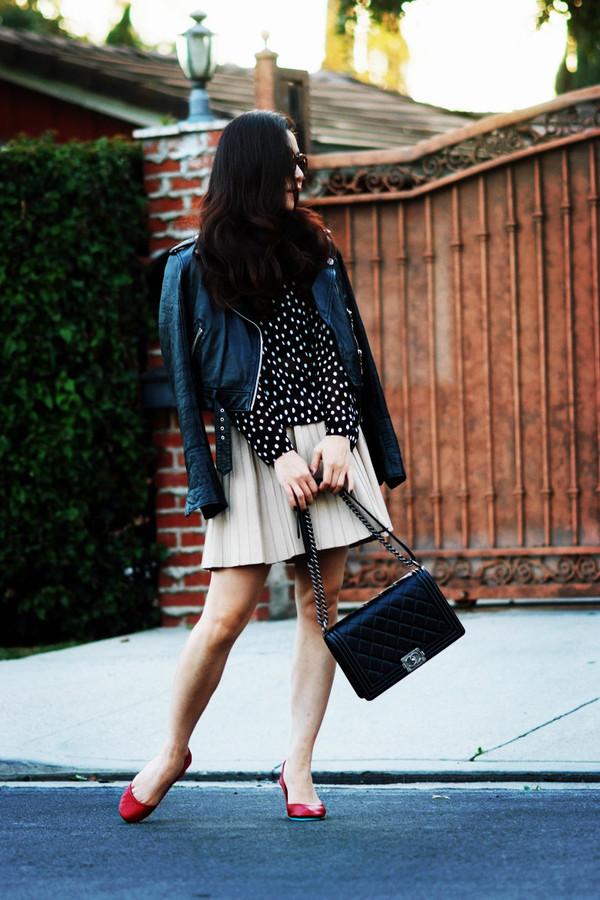 hallie daily jacket shirt skirt bag
