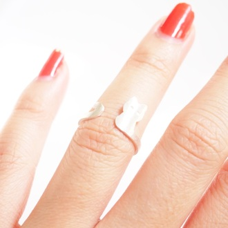 jewels summer summer handcraft cats cat ring animal cute knuckle ring ring engagement ring armor ring silver ring double ring animal ring cute ring sterling silver sterling silver ring 925 silver