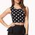 Playful Polka Dot Crop Top | FOREVER21 - 2000051485