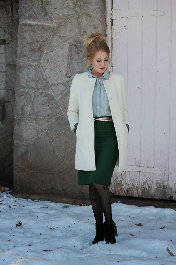 fashion flirtation skirt coat shoes jewels belt