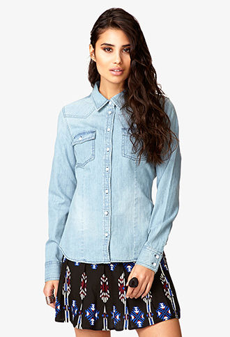 Rodeo Chic Denim Shirt | FOREVER21 - 2020566322