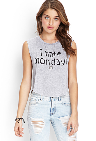 I Hate Mondays Muscle Tee   FOREVER 21 - 2000059373