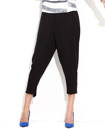 MADE Fashion Week for Impulse Pants, Relaxed Cropped Harem - Women - Macy's