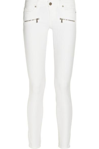 Paige Indio Zip mid-rise skinny jeans NET-A-PORTER.COM