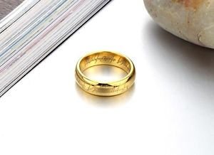 Tungsten Lord of The Rings The One Band Gold Plated Size 7 8 9 10 11 LOTR Rings | eBay