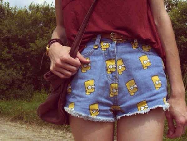 shorts the simpsons bart simpson bart simpson jean shorts ebonylace.storenvy ebonylace-streetfashion ebonylace.storenvy short bart simpson the simpsons