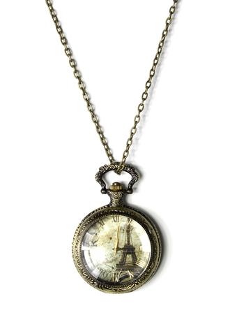 jewels watch pendant necklace eiffel tower