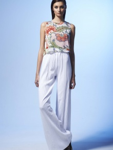 Voyage White Palazzo Pants | NOT JUST A LABEL