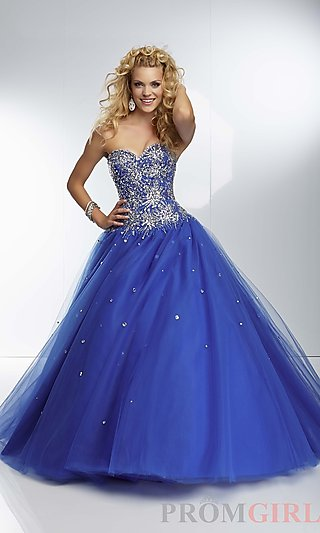 Prom Dresses, Celebrity Dresses, Sexy Evening Gowns - PromGirl: Long Strapless Ball Gown by Mori Lee