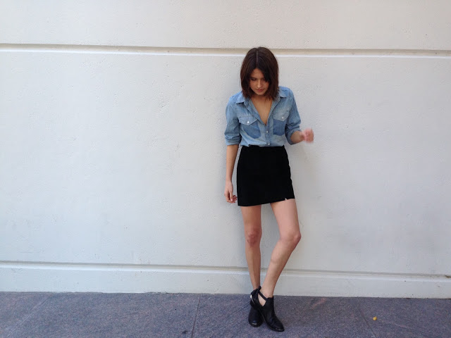 fire on the head : saturday suede & denim / forever 21 & YES