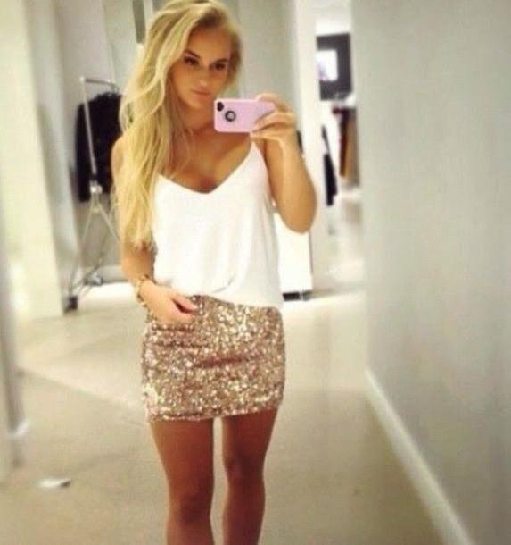 skirt sequin skirt gold sequins