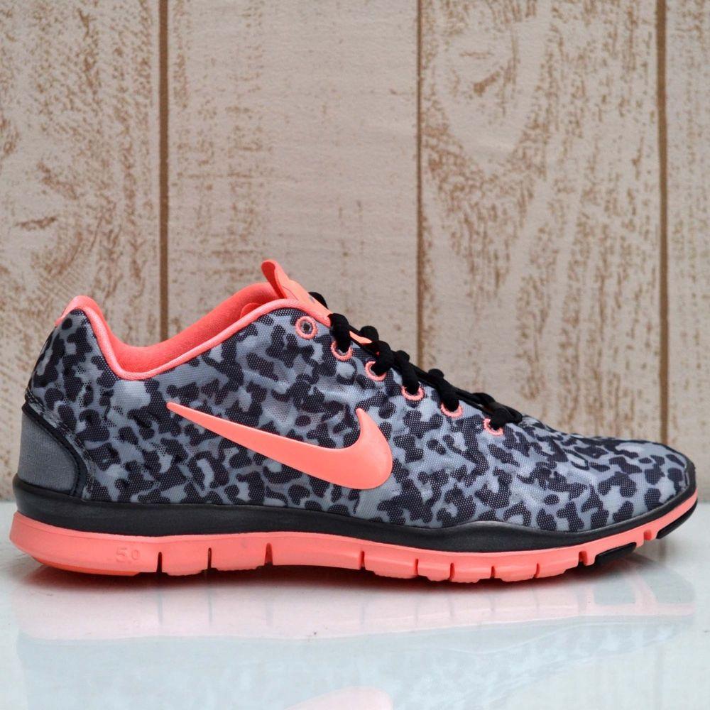 Nike Wmns Free TR Fit 3 Pink Leopard Print Stealth Black Cheetah Run 555159 007   eBay
