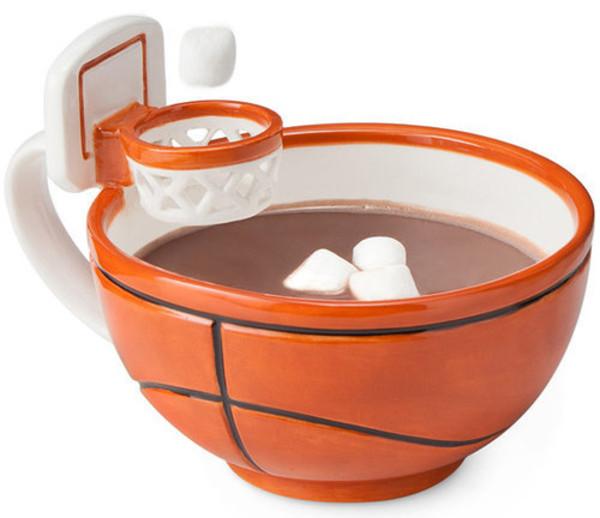 bag basketball cup orange basket breakfast cute home accessory jewels mug mug white stripes stripes basketball mug marsmallows marsmallow