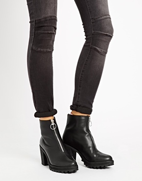 Monki | Monki Pixie Zip Up Ankle Boots at ASOS