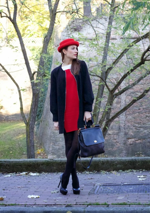 style and trouble coat shoes bag dress hat