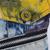 Blue Lapel Sleeveless Multicolor Print Denim Vest - Sheinside.com