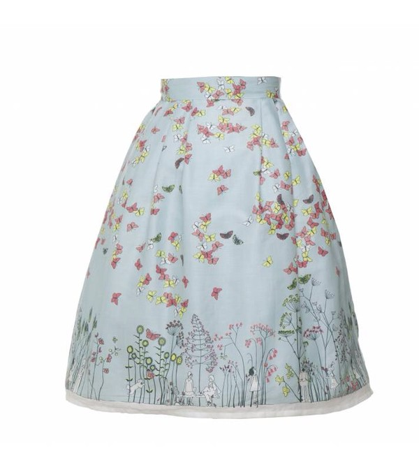skirt floral skirt blue skirt vintage vintage skirt