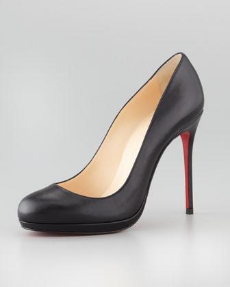 Christian Louboutin Filo Leather Red Sole Pump, Black - Neiman Marcus