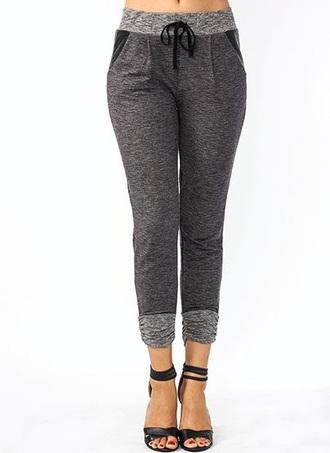 leggings sweatpants grey grey sweatpants clothes style fashion lazy day lounge pants