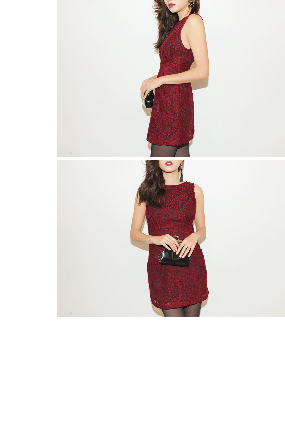 Low Back Lace Dress with Lining