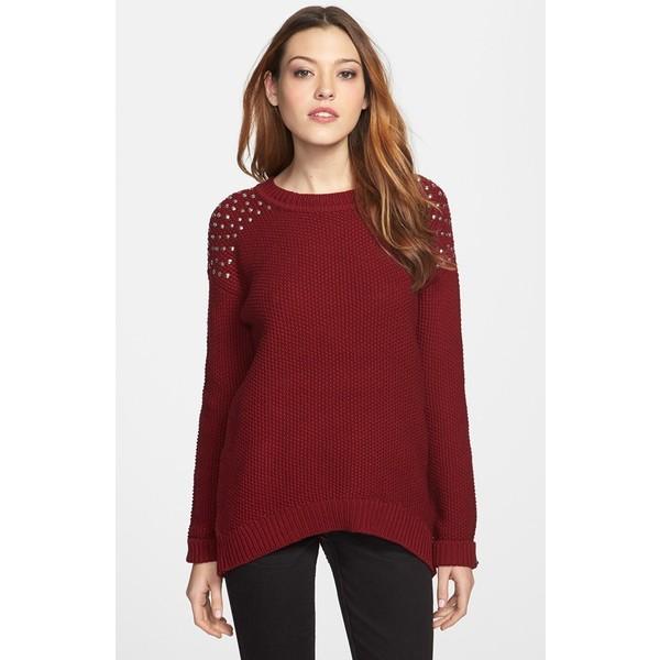 DEX Studded Sweater - Polyvore