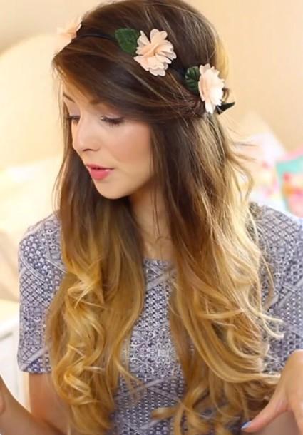 hair accessory flower crown zoella