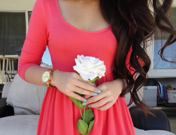 dress pink pink dress rose cute cute dress sweet nice