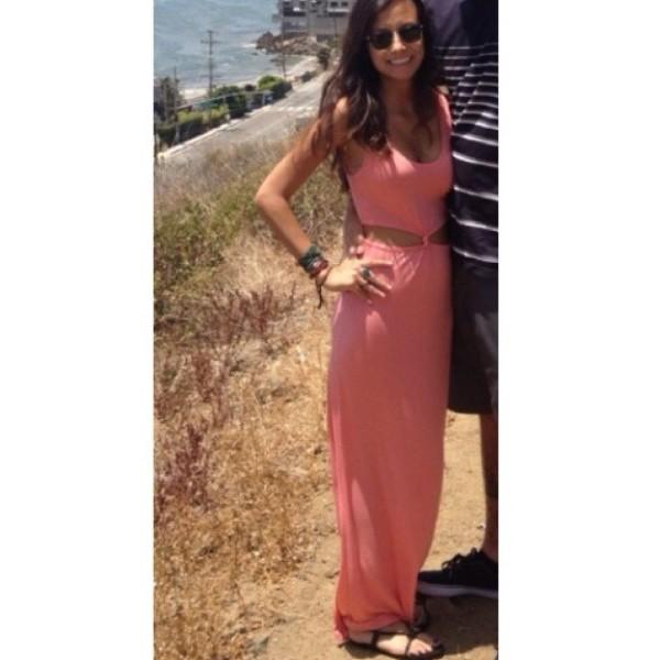 dress maxi dress coral summer dress