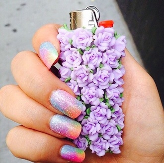 home accessory lighter girly purple