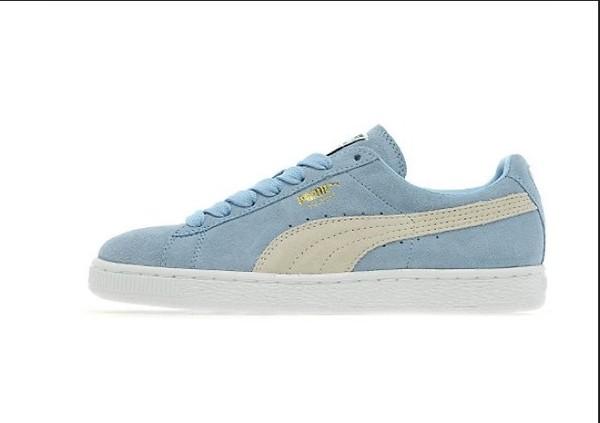 shoes puma suedes blue white