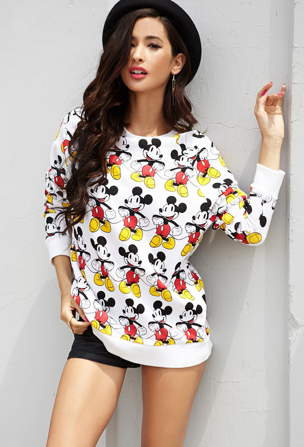 sweater mickey mouse forever 21