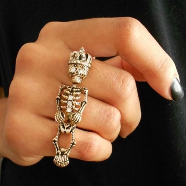 jewels skeleton gold ring