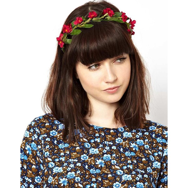 ASOS Collection Limited Edition Flower Leaf Hairband - Polyvore