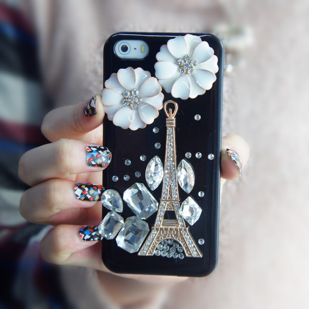 iphone 5s 3d cases handmade 3d eiffel tower iphone 5 5s black 14730